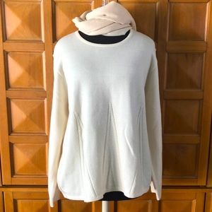 Aspa European Off White Sweater & Cashmere Scarf